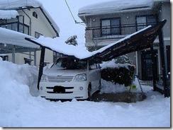 カーポート雪