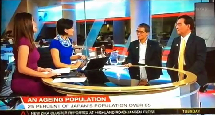 シンガポールのTV番組「Singapore Tonight」に生出演しました