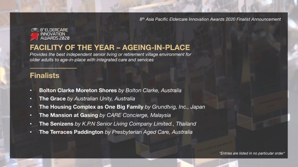 Eldercare Awards 2020